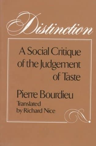 Bourdieu - Distinction - Class